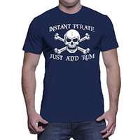 Wholesale Instant Prints - Adult Size funny tshirts Mens Instant Pirate Just Add Rum T-shirt Premium Fitted design your own t shirts