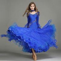Wholesale Tango Dresses For Dance - 6Color 2017NEW sexy dress modern Adult diamond ballroom Waltz Tango Foxtrot Costume Costume Contest for ballroom dance dance skirt clothes