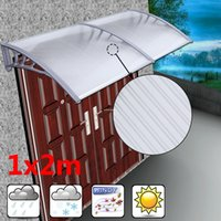 Wholesale Door Window Awning - WINDOW DOOR Canopy Porch Shelter Roof Cover Awning Resist Sun Rain Snow Rust