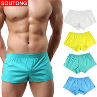 Wholesale Cheap Mens Underwear Boxer Briefs - 2017 new fashion mens underwear high quality cotton texture pure color briefs underwear for men cheap wholesale eight colors choose