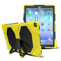 Wholesale Silicon Keyboard Apple - Military Heavy Duty ShockProof Rugged Impact Hybrid Tough Armor Case For IPAD 2 3 4 AIR 1 AIR 2 PRO 9.7 IPAD 2017 9.7 PRO 10.5 1pc lot
