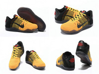 Wholesale 2016 New Cheap Kobe XI Bruce Lee Basketball Shoes Mens Retro Kobe Sneakers High Quality Online Original Discount Sports Shoes Size