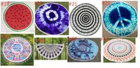 Wholesale Great Towels - Great quality 150CM 600G Fiber Thick Round Beach Towel Bohemian Style Summer Fashion Girls Women Tassel Beach Towels Beach Mat Printed To