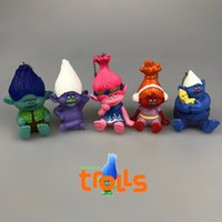Wholesale 2016 Movie Trolls Keychain set Mix Color design Keychain Anime Metal Key Chains Pendant Kids Christmas Gift