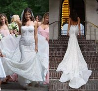 Wholesale Long Style Bohemia Dress - Gorgeous Bohemia Mermaid Wedding Dresses With Spaghetti Straps Long Beach Wedding Dress Bridal Gowns Low Back Sexy Country Style