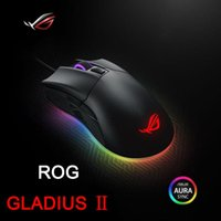 Wholesale Asus Wire - ASUS ROG GLADIUS Gaming Mouse USB Wired Optical Sensor Professional Sports LOL WCG RGB Programmable Watchmen Dazzle Colour Lighting Effect