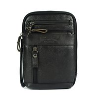 Wholesale Leather Ipad Mini Shoulder Bag - Wholesale-Genuine leather small messenger bags for men crossbody shoulder bag ipad mini handbags cowhide chest packs man shoulder bag