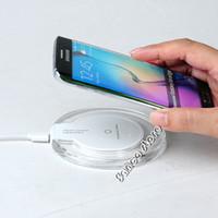 cargador qi para la venta al por mayor-2017 ventas calientes Cargador inalámbrico Qi Pad de carga inalámbrico para Samsung Galaxy S8 plus Note5 y todos los dispositivos habilitados para Qi para Iphone 7 Plus