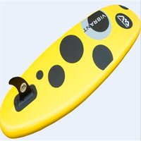 Wholesale Stand Up Paddling - sup stand up paddle surfboard inflatable water ski light weighted 266x76x10cm board in yellow color for kids
