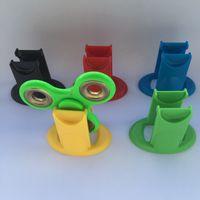 Wholesale Spinning Holder - Hard Plastic Display Stands Stand Holder Kicstand For Tri Finger Hand Spinner Fidget Triangle Finger Spinning Top Finger Clear Transparent