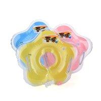 tubo circular al por mayor-Accesorios para el bebé Accesorios para la piscina Natación nadar cuello anillo Bebé Tubo Anillo Seguridad infantil flotar círculo baño Inflable Gota