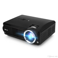 Wholesale Lcd Projector Build Hdmi - US Stock! iRULU P4 Projector HD LED Projectors Brightness Native Resolution 1080P Built-in TV Turner Home Theater Projectors