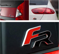 Wholesale Metal Formula - 6.4cm*3.5cm FR Metal Car stickers for Seat Leon 2 FR+ Cupra Ibiza Altea Exeo Formula Racing Car Accessories Car-Styling