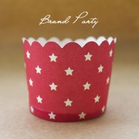 Wholesale Greaseproof Cupcake Liners Bulk - Red Star type bulk High temperature baking greaseproof paper muffin cupcake liners paper cases cupcaek wrappers