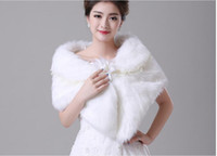 Acrylic Sleeveless Cloak Free Shipping Hot Sale Bridal Wraps & Jackets Wedding Accessories Short Faux Fur Wedding Belero Women For Formal Dress Bridal Coat Jacket