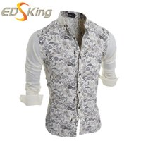 Wholesale wholesale famous brand clothes online - Famous Brand Men Shirts Fashion Casual Slim Fit Gray Factory Connection Clothing Mens Turn down Collar Long Sleeve Shirt
