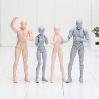 Wholesale Action Color - Body Kun SHF Figuarts Archetype He SHE Pale Ver Action Figure Skin Color DIY Figure Bodykun Action Figure Model