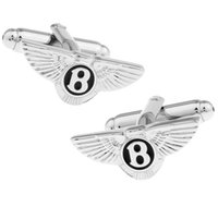 Wholesale Logo Luxury Cars - 2016 New Fashion Car Logo Cufflink Cuff Link Luxury Brand Copper Material Big Promotion Gift For Men Can Drop Shipping GD0016