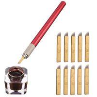 Wholesale tattoo kit pen ink resale online - Tebori Eyebrow Permanent Makeup Kits D Eyebrow Manual Microblading Pen Pin PCD Flade Needles Dark Coffee Tattoo Ink Set