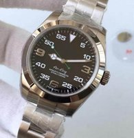 Wholesale King Sapphire - Top Quality Noob Factory Mens Automatic Eta 2836 Swiss Watch Men Black Dial 116900 Full Steel Air King Watches Sapphire Crystal Wristwatche