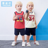 Wholesale Yingzifang Summer Boys Baby vest Casual Sleeveless Sports Clothing Sets Sleeveless T shirt children clothes boys clothing child set