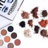 Wholesale Easy N - n stock! Kylie Eyeshadow Cosmetics Jenner Kyshadow pressed powder eye shadow Kit Palette Bronze kylie jenner Makeup Cosmetic 9 Colors