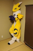 Wholesale Fox Fancy Dress - OISK professional fox fursuit japanese renamon mascot costumes outfits adult character fancy dress costumes corporate school team mascots