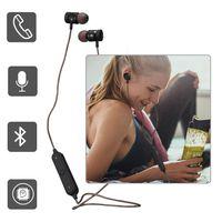Wholesale Earphone W Mic Iphone - BT22 In Ear Bluetooth Earphone Wireless Magnetic Stereo Headset W Mic Sport HIFI Music Earpieces for Phone Xiaomi iphone