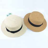 Wholesale Wholesale Small Straw Hat - Wholesale- Summer fashion small ceremony hat brimmed straw hat bow Ms. England topping cover sun hat beach hats for women