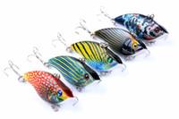 señuelos de vibraciones al por mayor-Nuevo fregadero poco profundo natación VIB cebo de pesca 5,5 cm 9 g 5 colores ABS plástico pintado señuelos de vibración