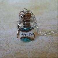 kawaii halsketten großhandel-12 teile / los Fee Staub Glasflasche Halskette Feen Pixie Staub Fantasie Schmuck Faery Fae Kawaii Charme