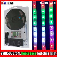 Wholesale Led Lighting Scrolling - HORSE RACE colorful led flexible light set,12V 5050 changeable 600lamps 5m RGB strip light+controller+adapter SCROLLING light set 10sets