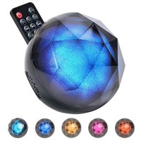 Wholesale Magic Ball Bluetooth - Color Ball Wireless Bluetooth Speaker With LED Light Magic Crystal Speaker With Remote Control Audio Player Christmas Decoration