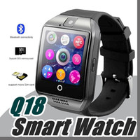 Orologio intelligente Q18 per i telefoni androidi Bluetooth Smartwatch con fotocamera Originale q18 Supporto Tf Sim slot per scheda Bluetooth NFC Connection K-BS