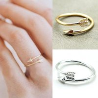 Wholesale Silver Wedding Ring Wrap - FINE ARROW RING in Silver, Gold or Rose Gold Plate. Thumb Wrap ADJUSTABLE Love for mon girlfriend gift free shipping