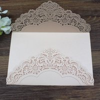Wholesale Cheap Wedding Invitations Free Shipping - Country invitation card envelop nude pink Customize size multi colors cheap party invitations Free Ship Wholesale