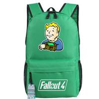 спортивные игры для мальчика оптовых-Fallout 4 рюкзак игры Пип мальчик школьная сумка Fallout4 рюкзак Pipboy школьный открытый рюкзак Спорт день пакет