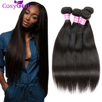 Wholesale Malaysian Remy Straight Hair 4pcs - Straight Brazilian Weave Bundles Brazilian Virgin Hair Straight 3 4pcs Brazilian Remy Human Hair Natural Color No Shedding Tangle Free Weave