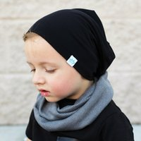 Wholesale Wholesale Kid Paper Hat - INS Baby Cotton Hats Girls Boys Warm Caps Candy Color Beanies Accessories Infant Hats Kids Winter Beanie Photography Props Caps LC649