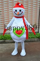 Wholesale Box Mascot Costumes - 2017 new mascot clothing snowman baby mascot sponge box direct support for private custom Halloween