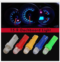 Wholesale Lamp Socket T5 - 100X T5 Car Wedge Dashboard Light Lamp Bulb LED White socket Instrument Speedo Dashboard Gauge Cluster 12V