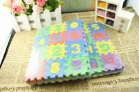 tapis de jeu de puzzle achat en gros de-Jouet bébé enfants numéral 1-10 tapis de mousse de sol tapis de jeu tapis de puzzle pour enfants bricolage jouets jeu de carreaux de sol
