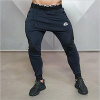 Wholesale Men Wearing Boys Clothes - Wholesale-Male Fitness Pants Sweat Pants Men Aesthetics Pan Wear For Runners Clothing Thin Sweat Trousers Boys