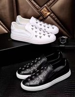Wholesale Type Shoe Men - New Hot Genuine Leather luxury brand New design Flat Casual Shoes more types Sneakers Summer Mens Casual ShoesFor Men Lace-Up shoes