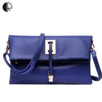 Wholesale Flip Messenger Bags - Wholesale-New Fashion Brand Leather Flip Small Handbag Shoulder Fold Over Crossbody Messenger Day Clutch Envelope Clutch Evening Bag BS519