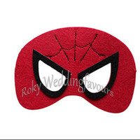 Wholesale Style Party Ideas - Free Shipping 50PCS Superhero Mask Many Styles Spiderman Batman Halloween Kids Cosplay Party Mask Birthday Party Ideas Event Gifts