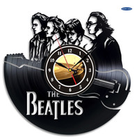 Wholesale Vintage Clock Art - Beatles Art Vinyl Clock CD Record Wall Clock Creative Gift Kamer Modern Home Record Vintage Decoration