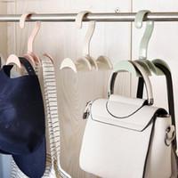 Wholesale plastic jewelry hanger - Hanging Closet Organizer Hooks Hanger  Holder for Purses Handbags Satchels Backpacks 83cac5124b4c1