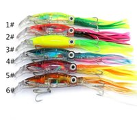 Wholesale Double Lure Skirts - Colorful 6PCS Octopus Skirt Lure 14cm 40g Fishing Crappie Lures Minnow Sleeve-fish Soft Plastic Baits with Double Hooks