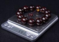 Wholesale Sandalwood Bracelets - Real Lobular red sandalwood Men bracelet 18mm buddhism prayer beads Grandpa gift